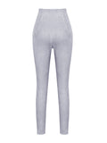 Katya Grey Suedette Leggings