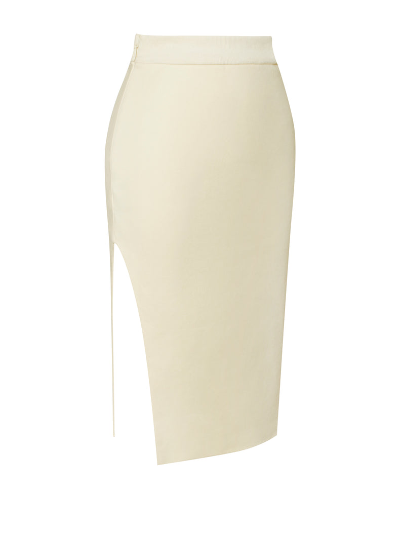 Carolyn Pale Yellow Cutout Skirt