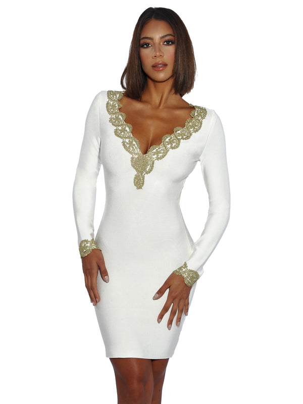 Vanilla Dream Bandage Dress - Miss Circle