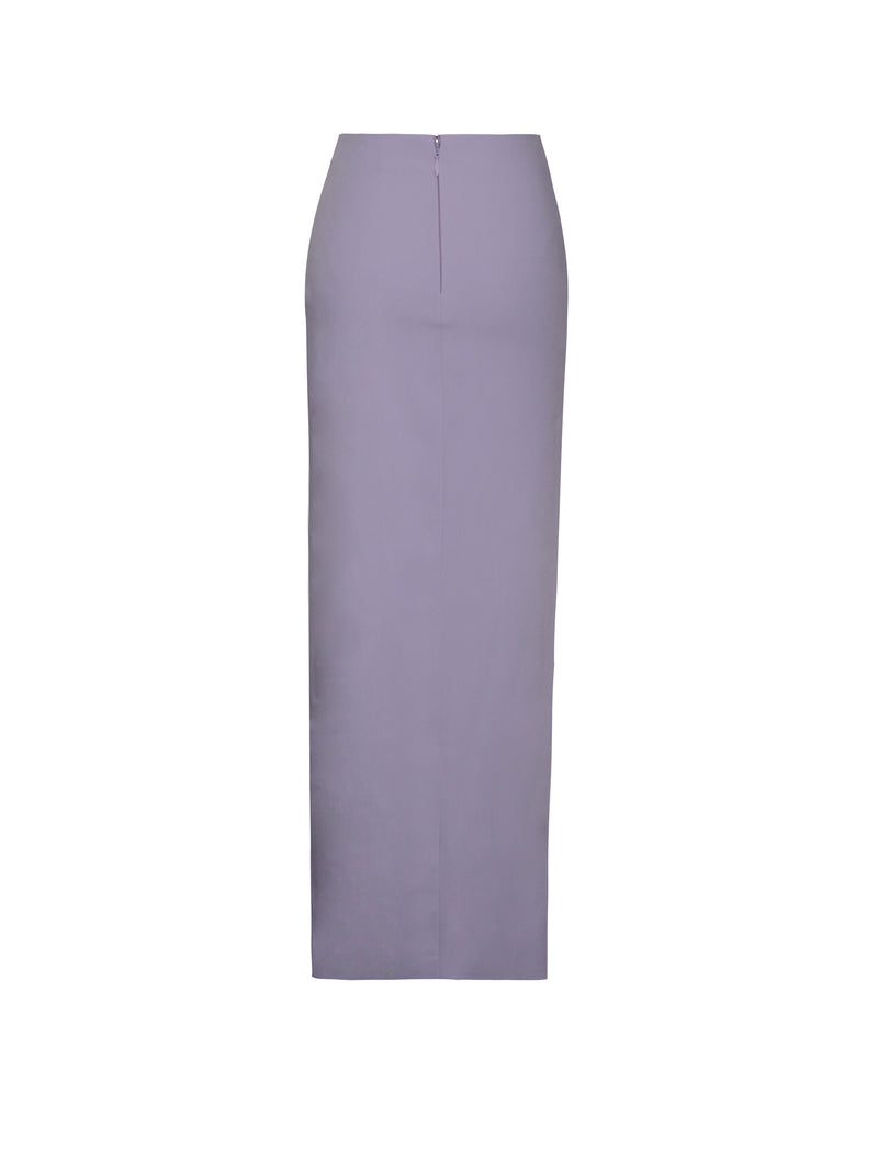 Letitia Lavender Thigh Split Pencil Skirt
