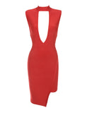 Edie Keyhole Cut Out Detail Bandage Dress