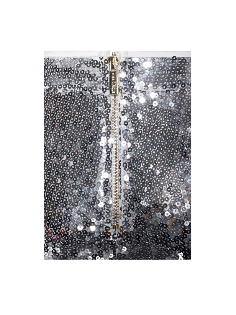 Into The Light Silver Sequin Trousers - Miss Circle