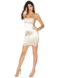 Blake Satin Cami Strappy Backless Dress
