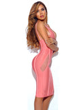 Lotta Halter Top V-Neck Bandage Dress