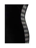 Marilyn Crystal Detail Cutout Black Velvet Dress