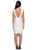 Perla Cut Out Detail White Bandage Dress
