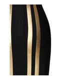 Jude Metallic Stripe Long Sleeve Bandage Dress