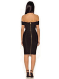Rosanna Black Off Shoulder Bandage Dress