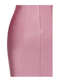Kalista Asymmetric Zip Detail Long Sleeve Bandage Dress