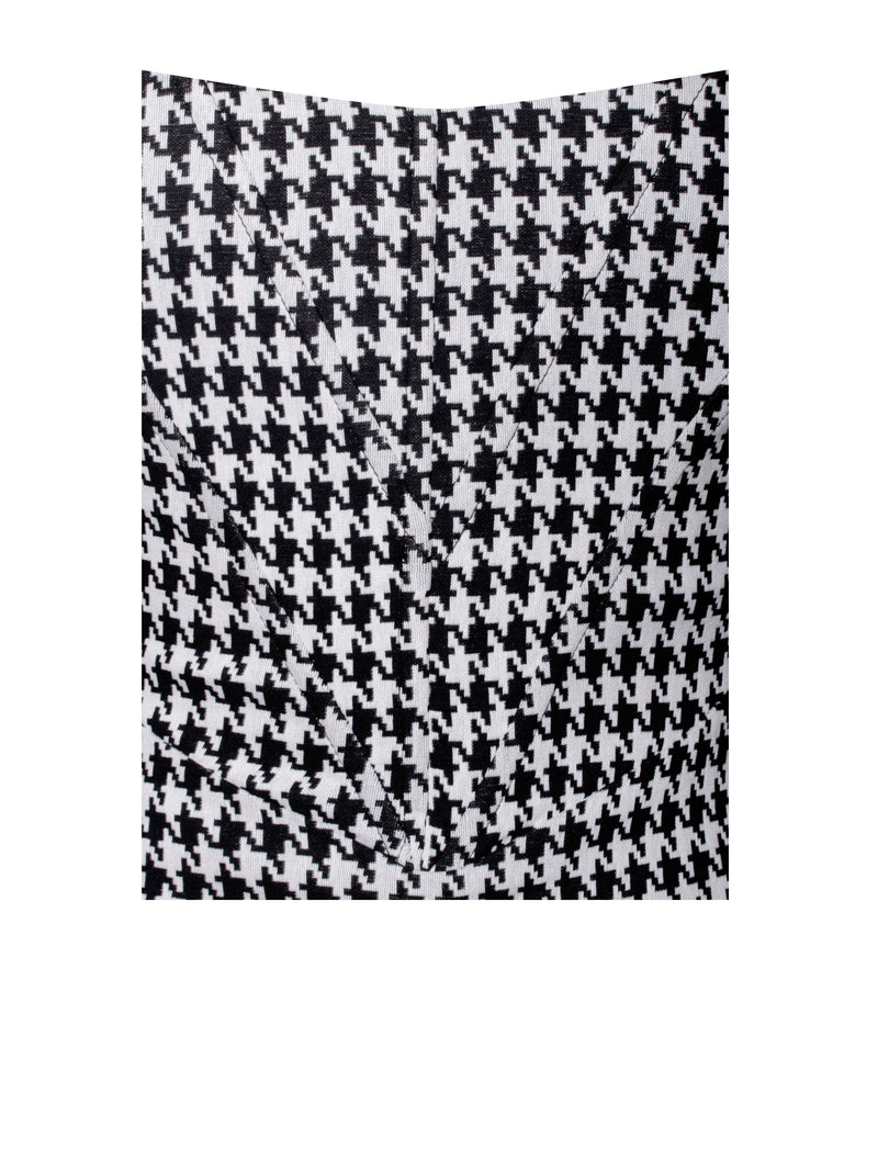 Yesly Houndstooth Puffle Seelve Corset Dress