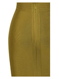Perla Cut Out Detail Olive Green Bandage Dress