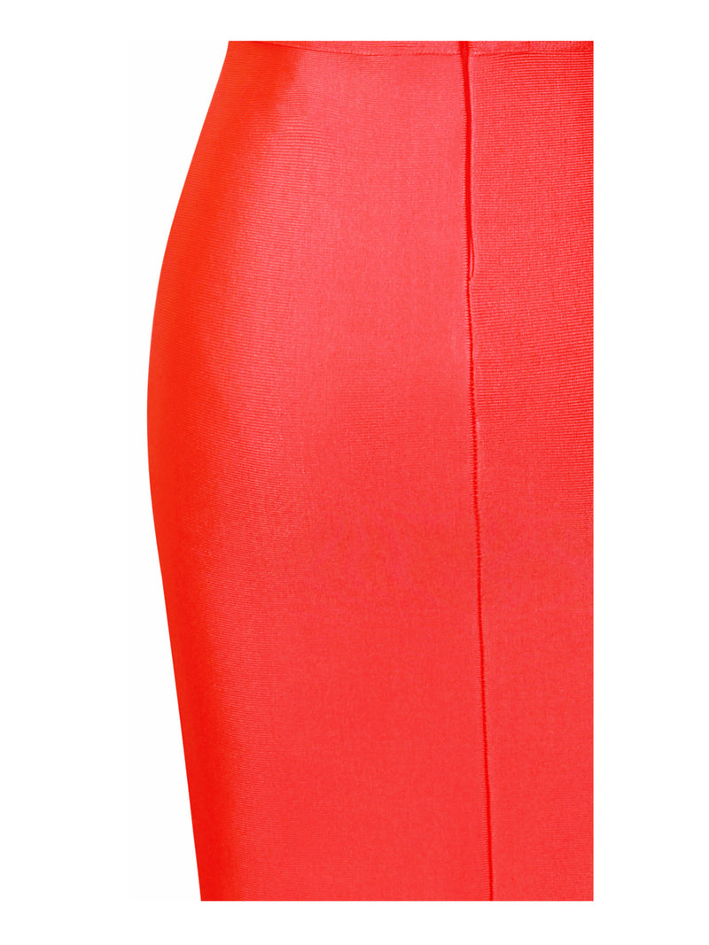 Daya Red Cutout Detail Bandage Dress - Miss Circle
