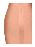 Anisa Lattice Weave Detail Two Piece Bandage Dress