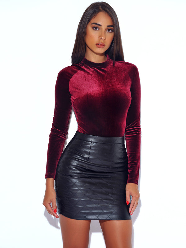 Rock Wit U Mini Leather Skirt
