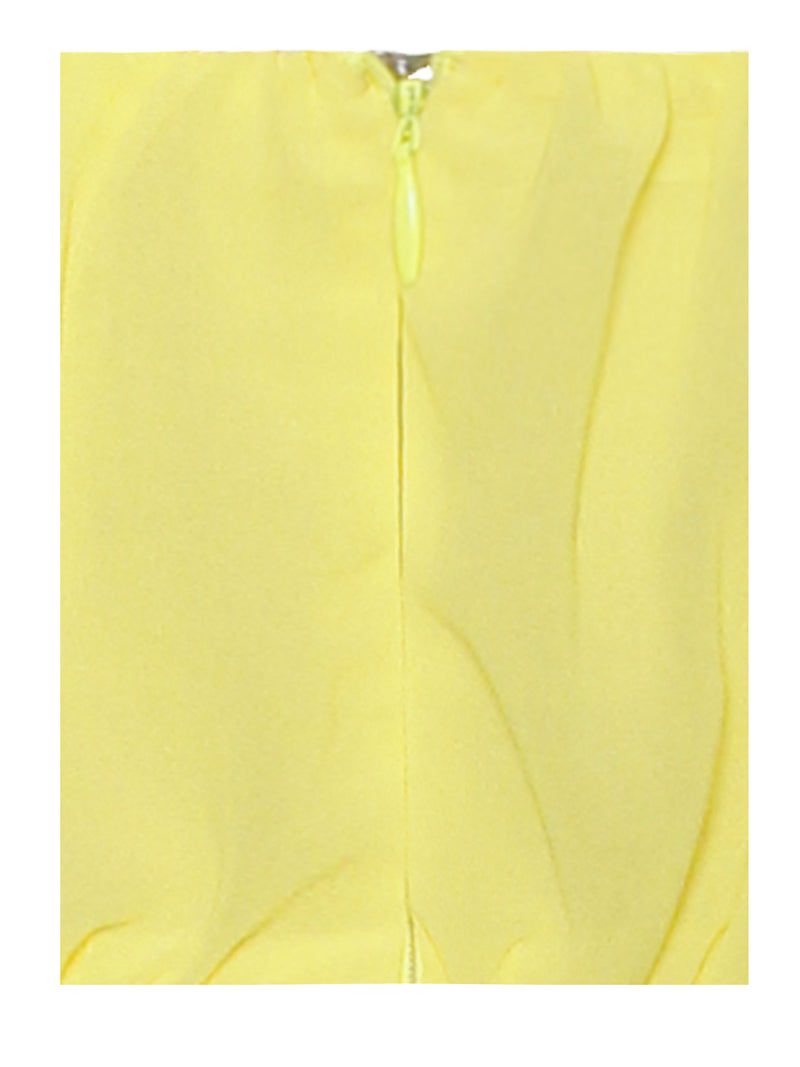 Paradise High Slit Yellow Chiffon Maxi Dress - Miss Circle