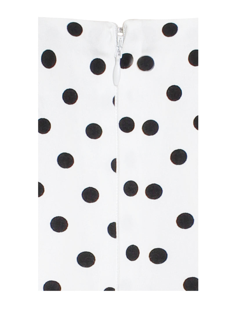 Round and Round Ruched Polka Dot Skirt - Miss Circle