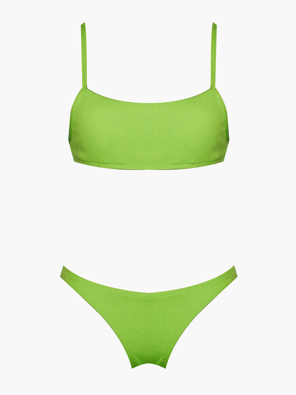 Navagio Neon Yellow Strappy Two Piece Bikini
