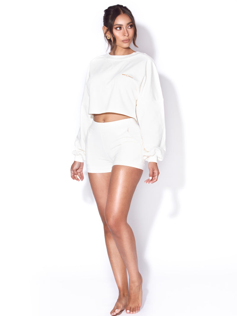 Rori Ivory White Miss Circle Shorts
