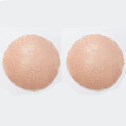 Beige Lace Silicone Reusable Invisible Self-Adhesive Nipple Covers - Miss Circle
