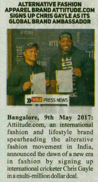 Attiitude.com signs Chris Gayle - Published by Voice of Jaipur
