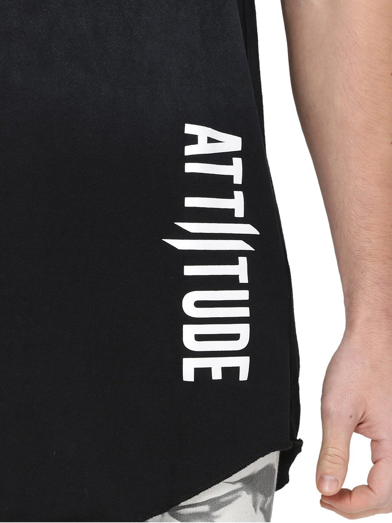 ATTIITUDE BLACK VEST WITH WHITE PIGMENT SPRAY