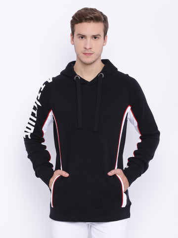 Attiitude Black Panel Detailed Hoodie