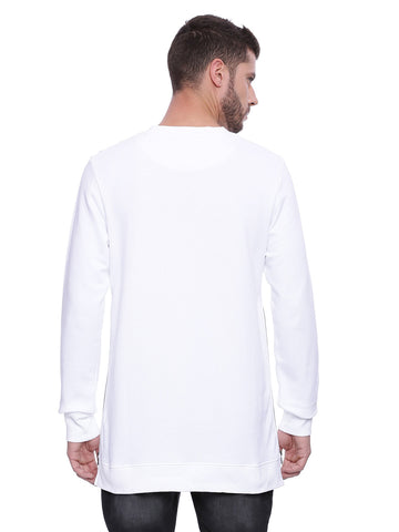Attiitude White Long Zipper Sweatshirt