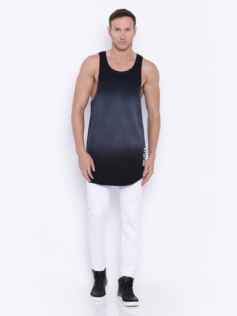 Attiitude Black High Density Print Vest
