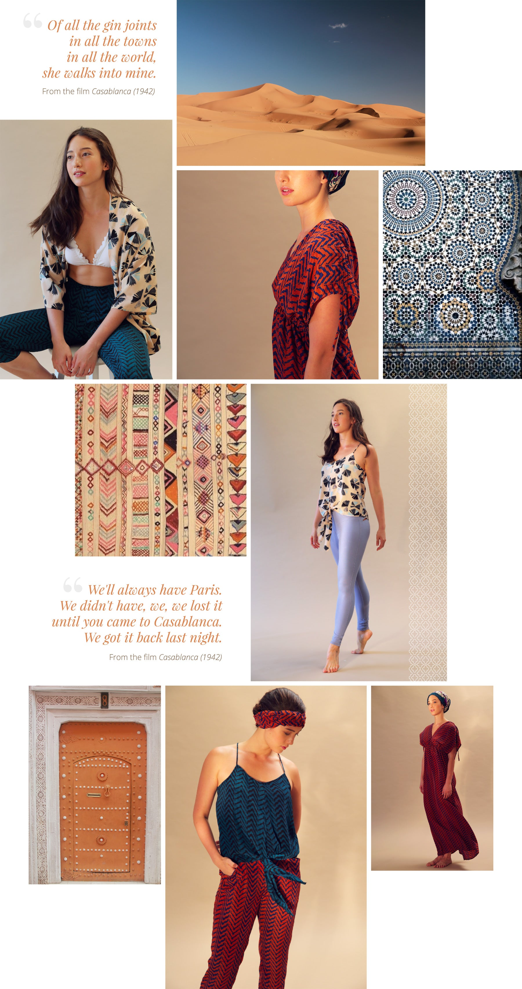 Lookbook: Moroccan Dreams Collection