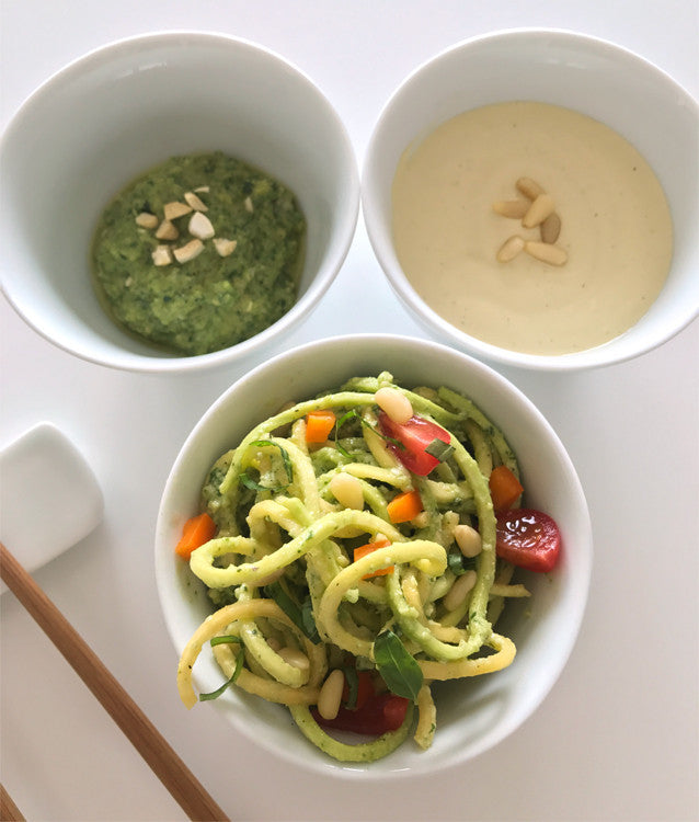 Spring Series: Raw Vegan Zucchini Pasta 2 Ways