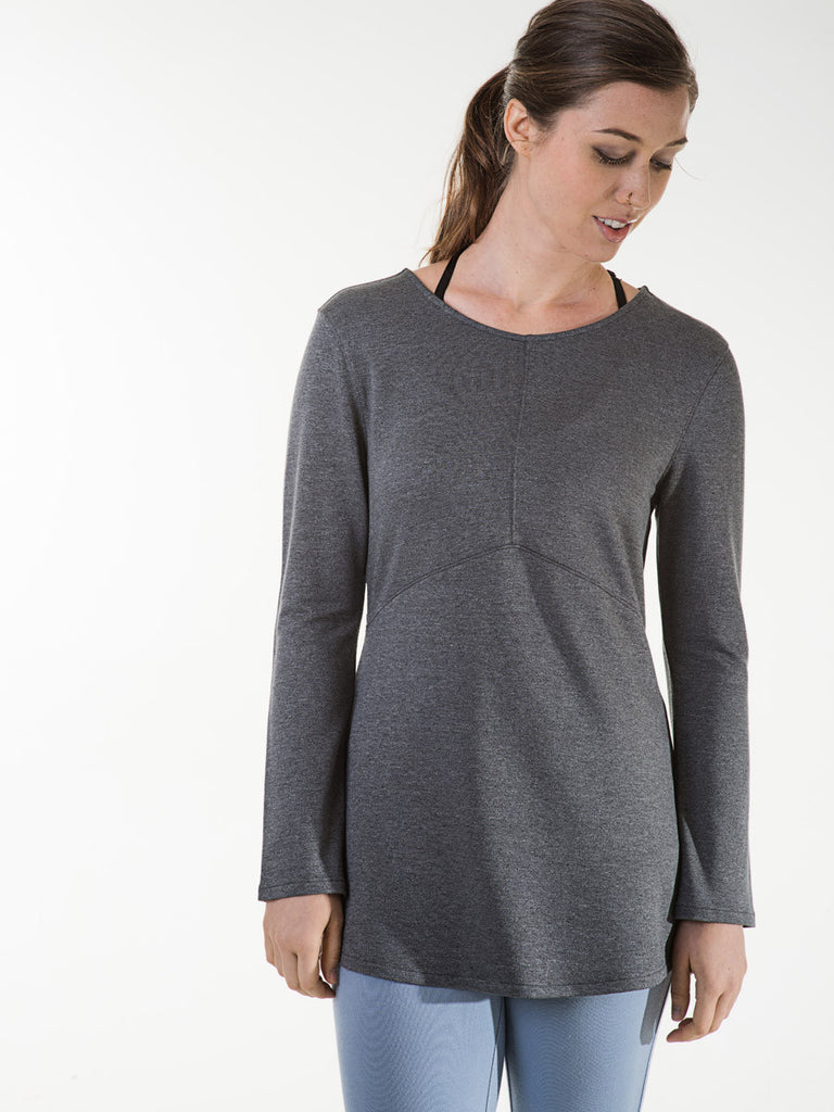 Marjorie Tee in Heather Charcoal
