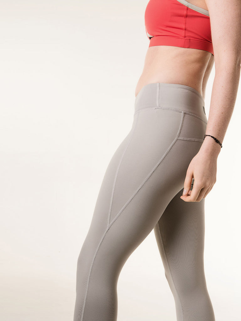Louise Capris in Light Gray