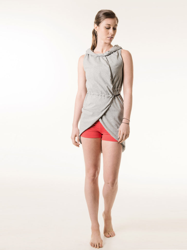 Jackie Wrap in Heather Gray