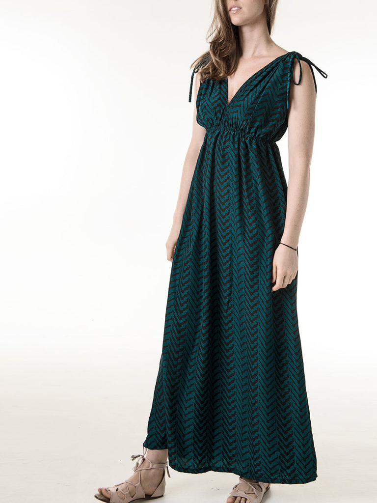 Jasmine Maxi Dress in Peacock
