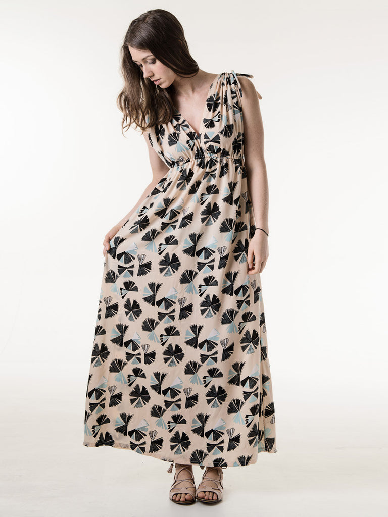 Jasmine Maxi Dress in Almond