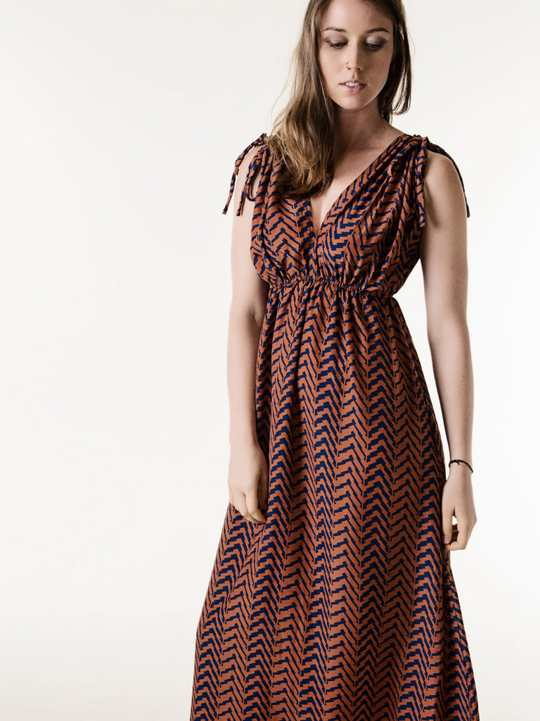Jasmine Maxi Dress in Terracotta