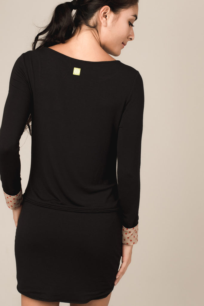 Darlene Shift Dress in Black