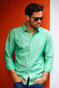 Green Linen - Size S  only!
