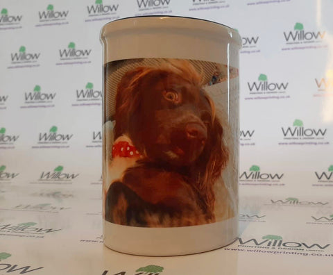Personalised Pen Pot with your Photo and Message. Unique Gift for Family & Friends