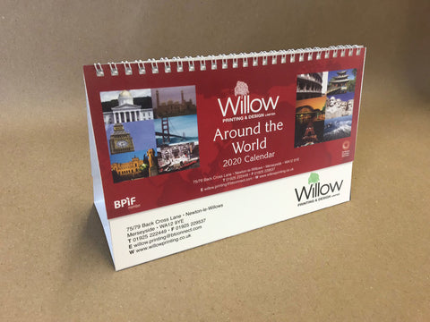 Willow Printing and Design Limited 2020 Around The World Desk Calendar