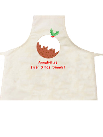 BB05 - Baby's First Christmas Pudding Personalised Apron