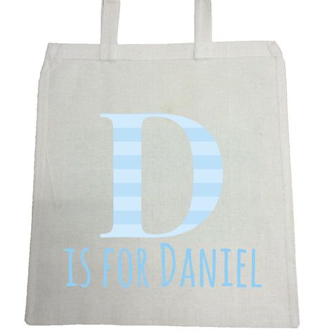 BB08 - Personalised Initial Name Canvas Bag for Life