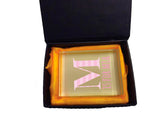 BB08 - Personalised Initial Name Crystal Block with Presentation Gift Box