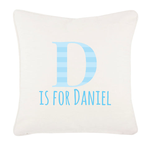 BB08 - Personalised Initial Name Canvas Cushion Cover