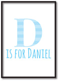 BB08 - Personalised Initial Name Print