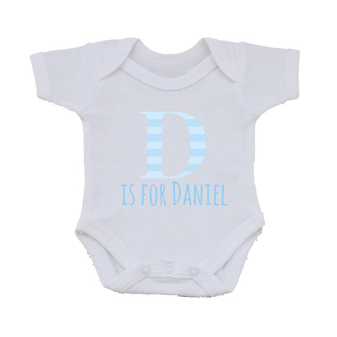 BB08 - Personalised Initial Name Baby Vest