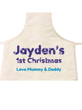 BB09 - Snowflake letters for Baby Personalised Apron