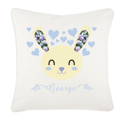 Personalised Baby Bunny Canvas Cushion Cover