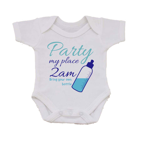BB19 Party at Mine Personalised Baby Vest