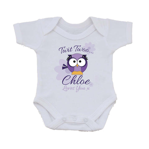 BB21 Owl Personalised Baby Vest